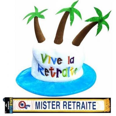 Cadeau homme 1 écharpe et 1 chapeau retraite REF/CHA07-ECHB23H