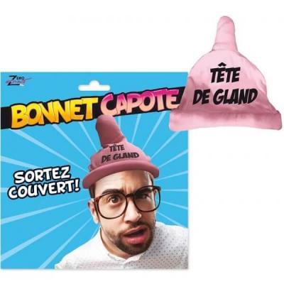 Cadeau humoristique adulte bonnet capote sexy rose (x1) REF/SEXG029
