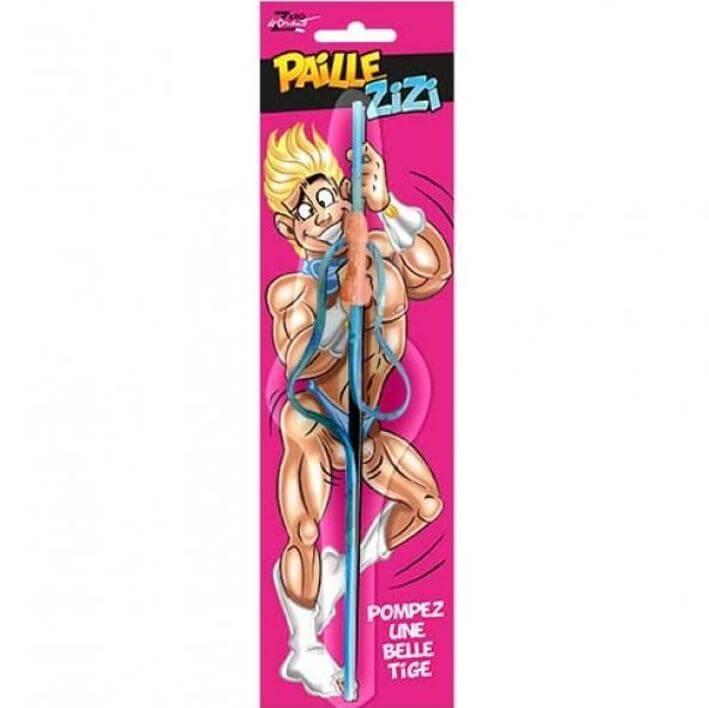 Cadeau adulte fete sexy humoristique paille neon zizi