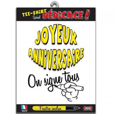 T-shirt dédicace joyeux anniversaire (x1) REF/TSOSS201