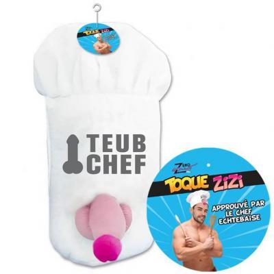 Cadeau humoristique adulte avec toque zizi chef de cuisine (x1) REF/SEXG026