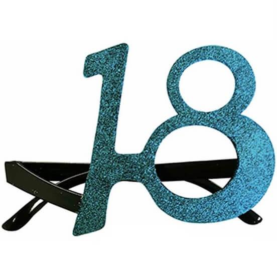 Cadeau adulte lunettes anniversaire 18ans bleu