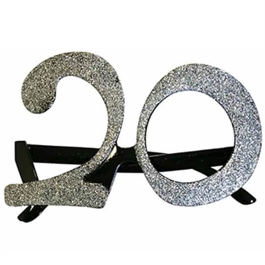 Cadeau adulte lunettes anniversaire 20ans argent