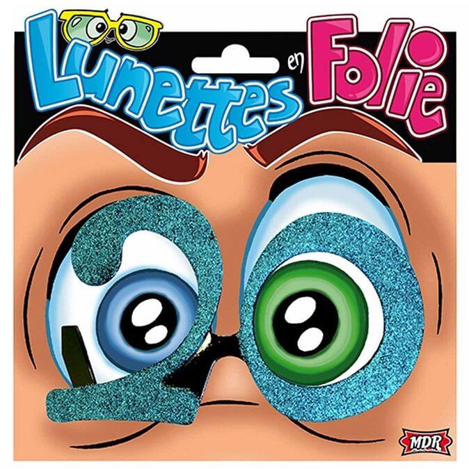 Cadeau adulte lunettes anniversaire 20ans bleu