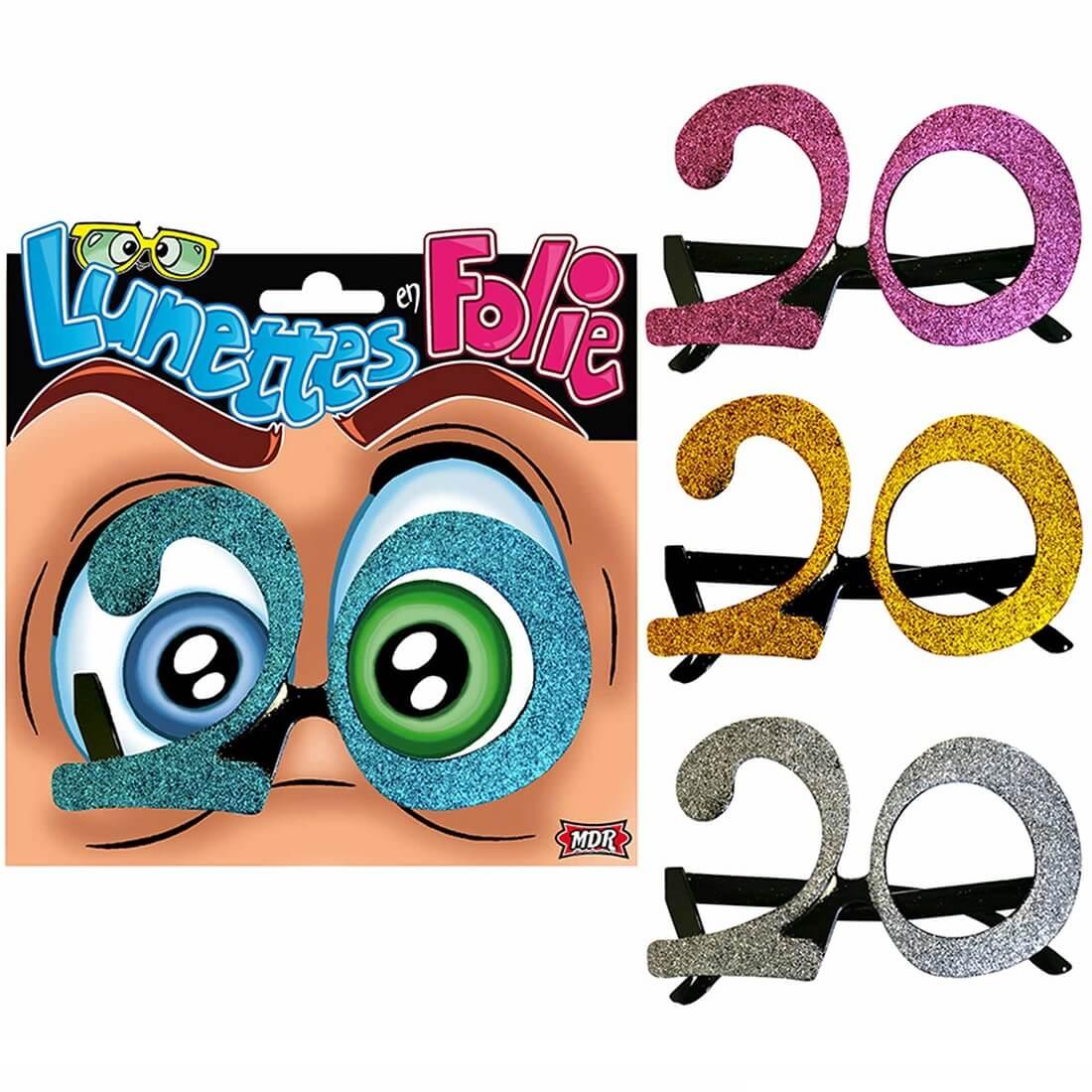 Cadeau adulte lunettes anniversaire 20ans