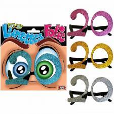 Cadeau adulte lunettes pailletées anniversaire 20ans (x1) REF/LUNA02
