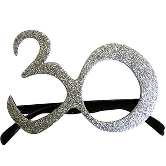 Cadeau adulte lunettes anniversaire 30ans argent
