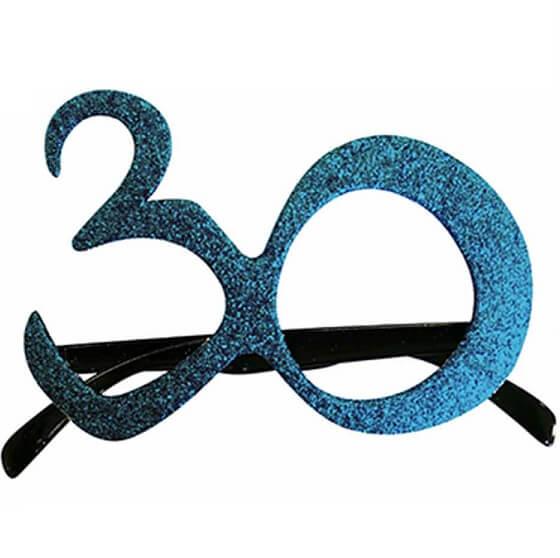 Cadeau adulte lunettes anniversaire 30ans bleu