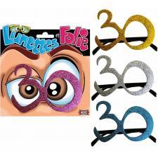 Cadeau adulte lunettes pailletées anniversaire 30ans (x1) REF/LUNA03