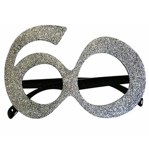 Cadeau adulte lunettes anniversaire 60ans argent