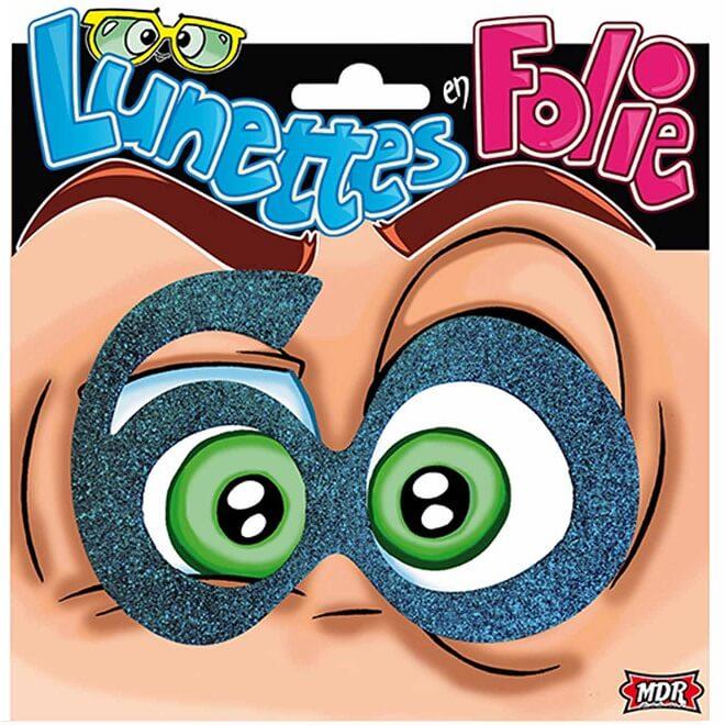 Cadeau adulte lunettes anniversaire 60ans bleu
