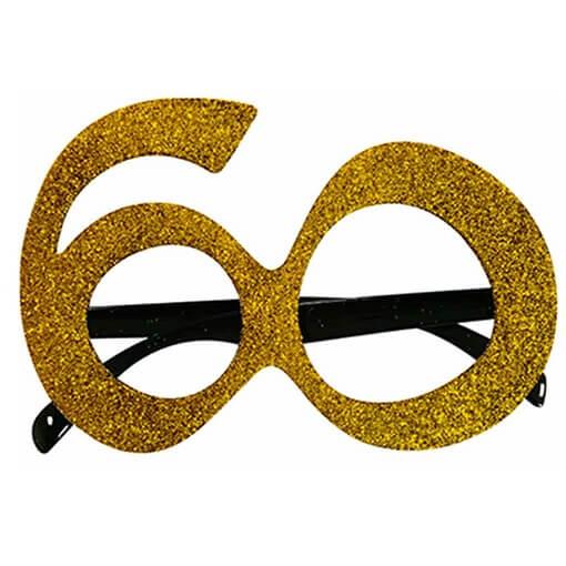 Cadeau adulte lunettes anniversaire 60ans or