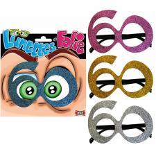 Cadeau adulte lunettes pailletées anniversaire 60ans (x1) REF/LUNA06