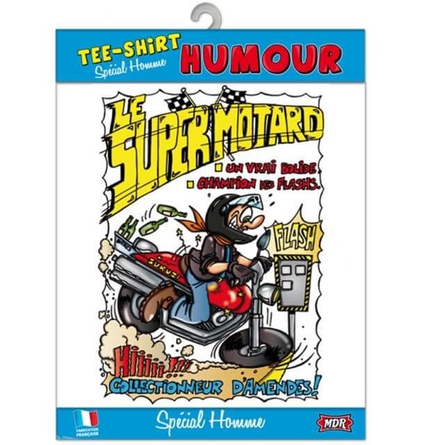 Cadeau adulte t shirt humour motard moto