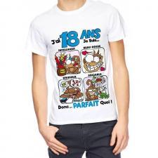 T-shirt anniversaire homme: 18ans (x1) REF/TSHS203