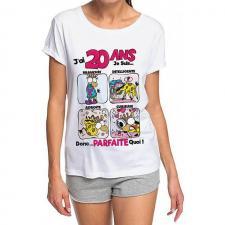 T-shirt anniversaire femme: 20ans (x1) REF/TSHS206