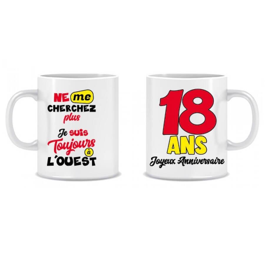 Cadeau anniversaire mug 18ans