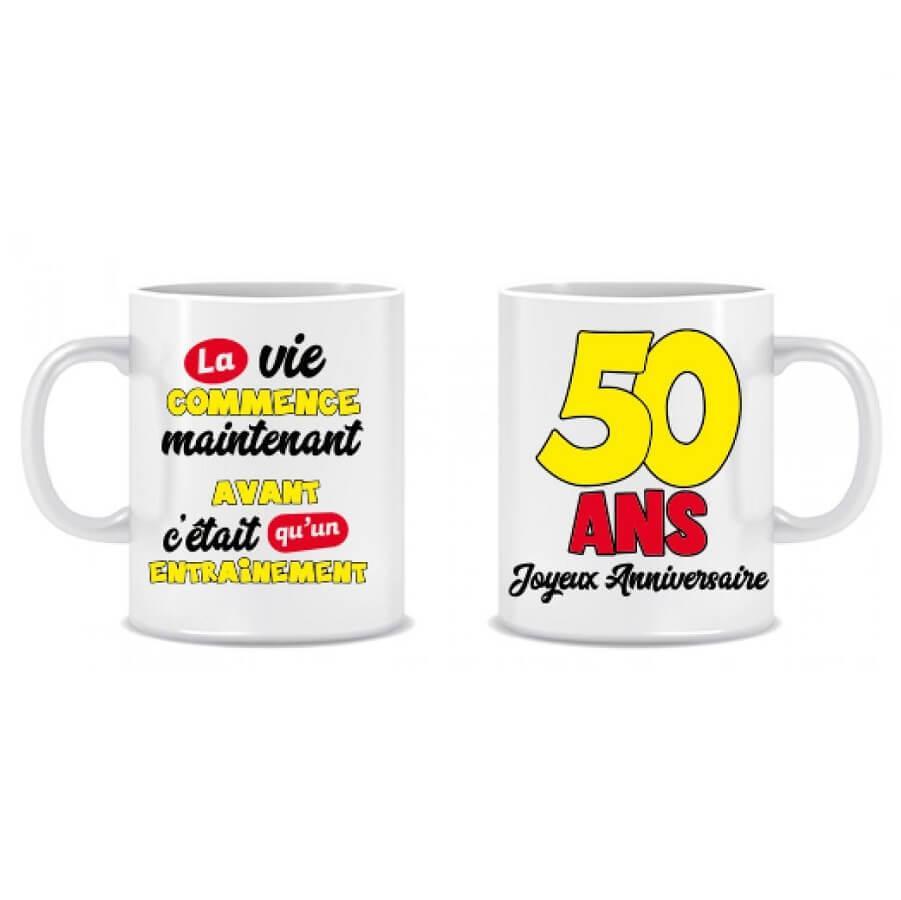 Cadeau anniversaire mug 50ans