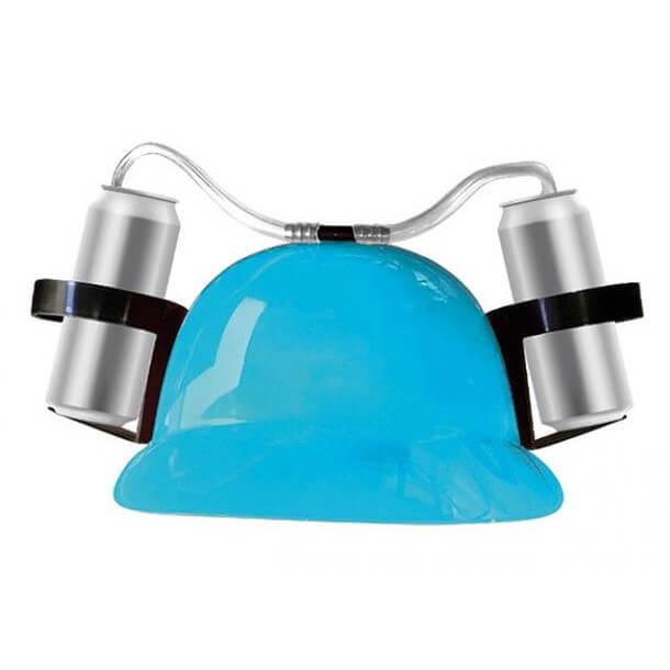 Cadeau casque anti soif bleu