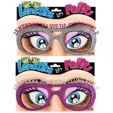 Cadeau lunettes pailletées enterrement de vie de jeune fille (x1) REF/LUNA08