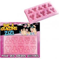 Bac à glaçons zizi pour cadeau de fête adulte humoristique (x1) REF/SEXG041