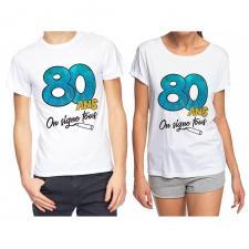 T-shirt anniversaire dédicace : 80ans (x1) REF/TSOSS215