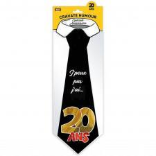 Cadeau pour fête avec cravate anniversaire 20ans (x1) REF/CRAV02