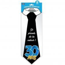 Cadeau pour fête avec cravate anniversaire 30ans (x1) REF/CRAV03