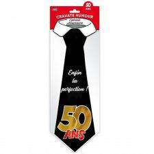 Cadeau pour fête avec cravate anniversaire 50ans (x1) REF/CRAV05