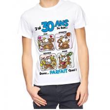 T-shirt anniversaire homme: 30ans (x1) REF/TSHS207