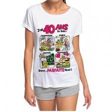 T-shirt anniversaire femme: 40ans (x1) REF/TSHS210