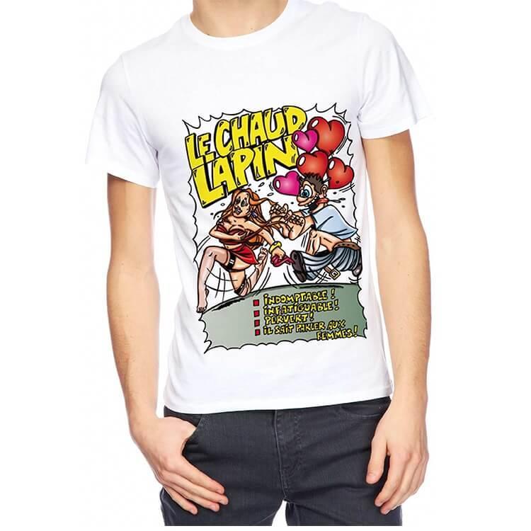 Cadeau de fete avec t shirt chaud lapin