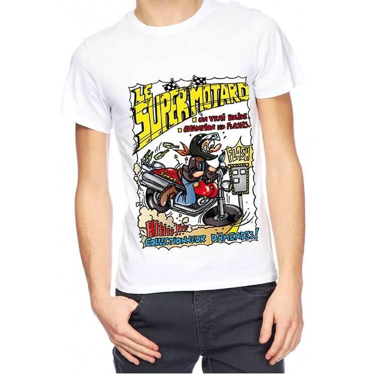 Cadeau de fete avec t shirt super motard