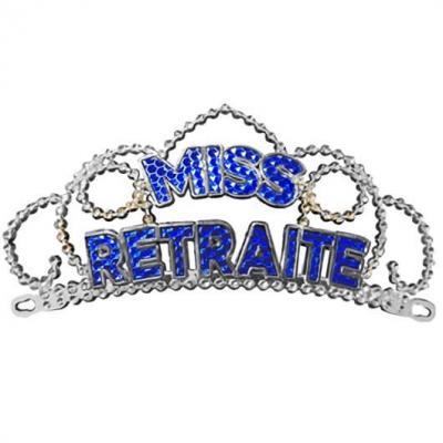 Diadème bleu miss retraite pour cadeau (x1) REF/DM10B