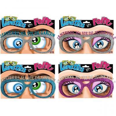 1 Pack de 2 paires de lunettes pour enterrement de vie de célibataire REF/LUNA08-LUNA09