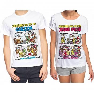 1 Pack cadeau enterrement de vie de célibataire avec T-shirt REF/TSHS217-TSHS218