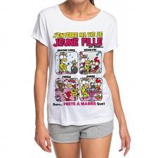 T-shirt: Enterrement de vie de jeune fille (x1) REF/TSHS218