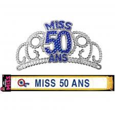 Cadeau de fête anniversaire diadème et écharpe 50ans (x1) REF/ECHB05-DM05B