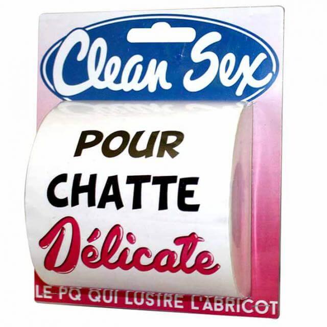 Cadeau humoristique papier toilette clean sex femme