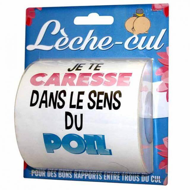 Cadeau humoristique papier toilette leche cul