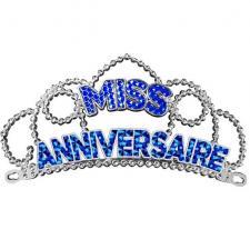 Diadème bleu miss anniversaire pour cadeau (x1) REF/DM00B