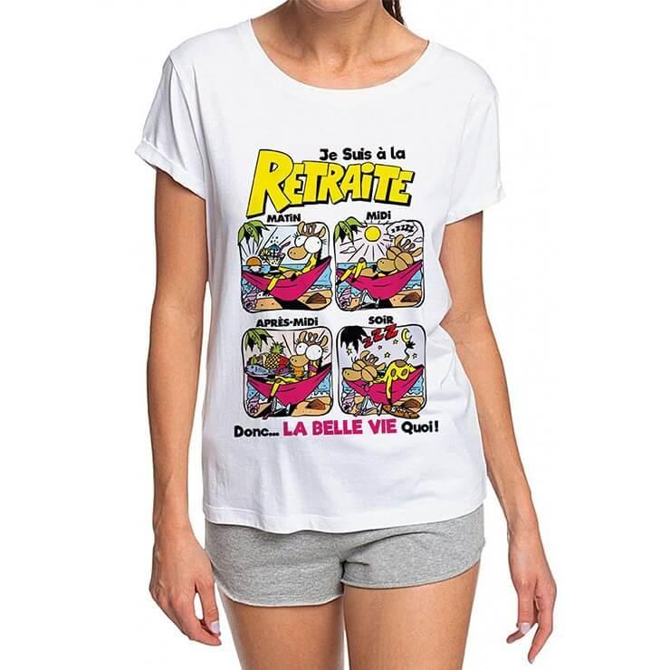 Cadeau retraite pour femme avec t shirt