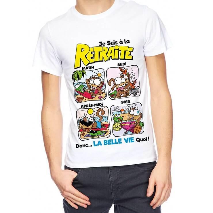Cadeau retraite pour homme avec t shirt