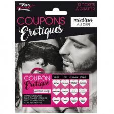 Cadeau adulte sexy humoristique coupons Monsieur au défi (x1) REF/SEXR007