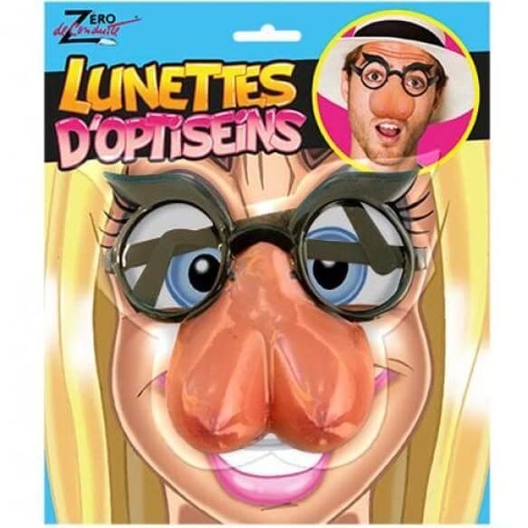 Cadeau sexy humoristique fete adulte lunettes seins