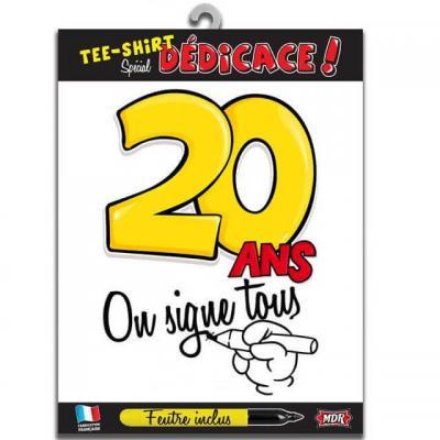 T-shirt anniversaire dédicace : 20ans (x1) REF/TSOSS203