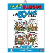 T-shirt anniversaire homme: 60ans (x1) REF/TSHS213