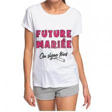 Cadeau de fête avec t-shirt dédicace enterrement de vie de jeune fille (x1) REF/TSOSS211
