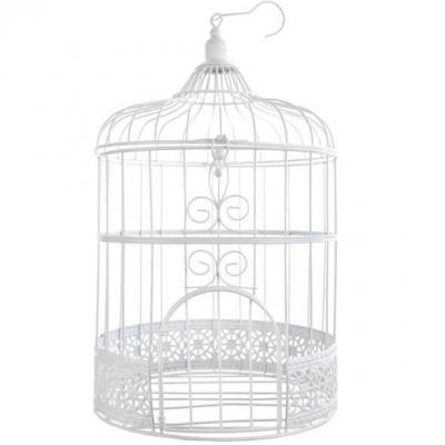 Décoration de salle élégante avec cage dentelle blanche (x1) REF/3871