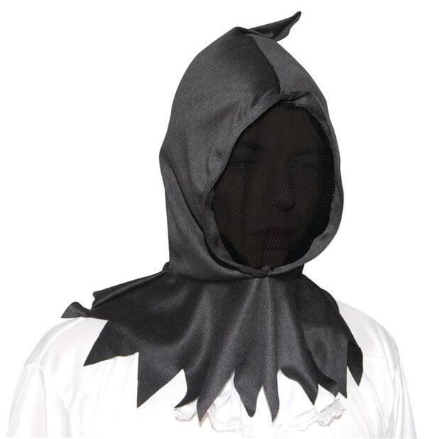 Cagoule visage invisible noire